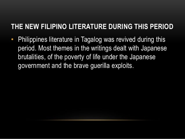 PHILIPPINE LITERATURE DURING JAPANESE PERIOD.?