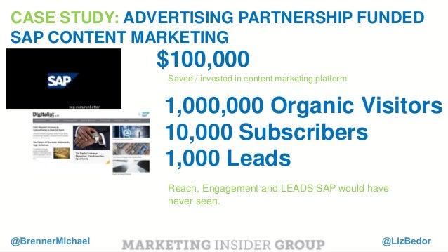 "MARKETING INSIDER GROUP Content Marketing ROI is 4X our traditional marketing spend. "" "" Julie Fleischer Former Sr. Direct..."