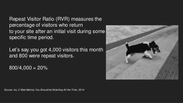 Don't forget that while you want to increase the percentage of repeat visitors, you also want to increase the total number...
