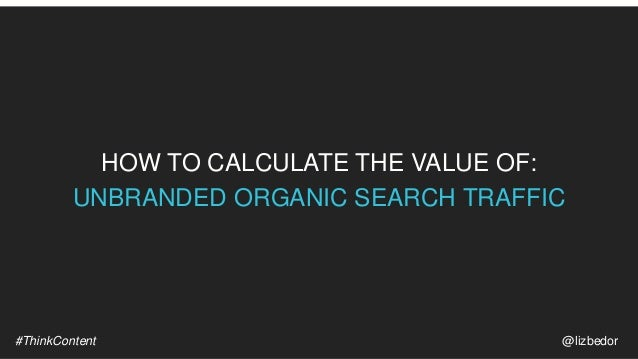 HOW TO CALCUATE THE VALUE OF: ORGANIC SEARCH SHARE OF VOICE
