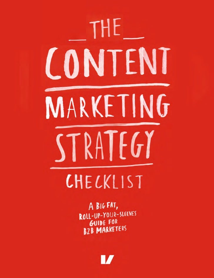 The Content Marketing Strategy Checklist Sample