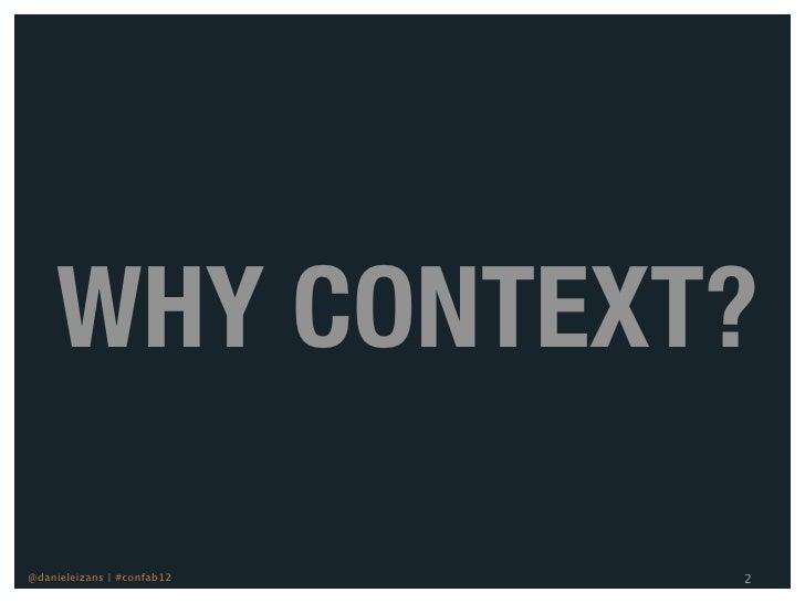 Conquering The Context Conundrum Slide 2