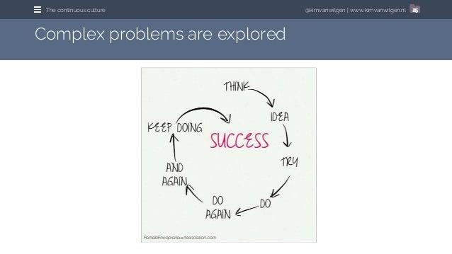 @kimvanwilgen   www.kimvanwilgen.nlThe continuous culture 25 Complex problems are explored