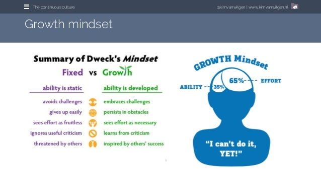 @kimvanwilgen   www.kimvanwilgen.nlThe continuous culture 46 Growth mindset