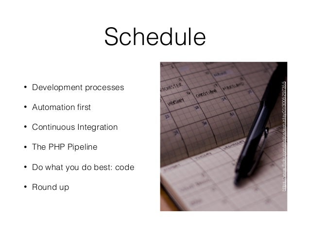 The Continuous PHP Pipeline Slide 3