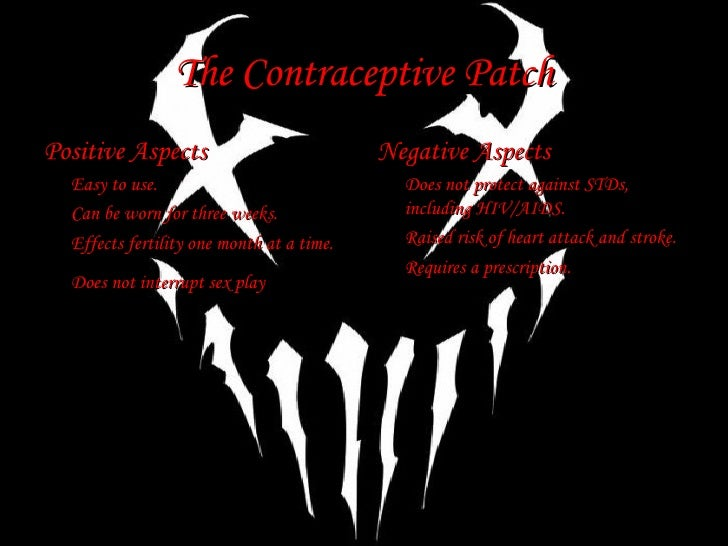 The Contraceptive Patch Slide 3
