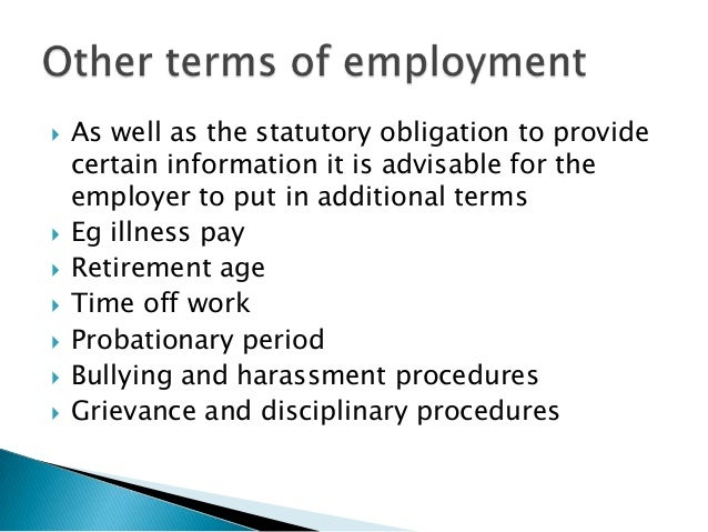 ... Employment Contract; 9.