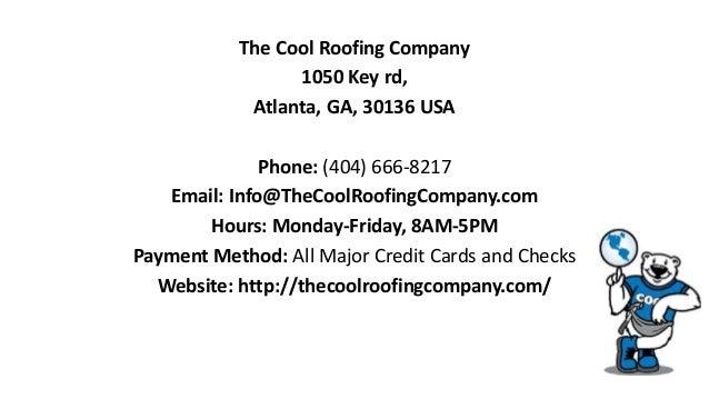 13. The Cool Roofing Company 1050 Key Rd, Atlanta, GA ...