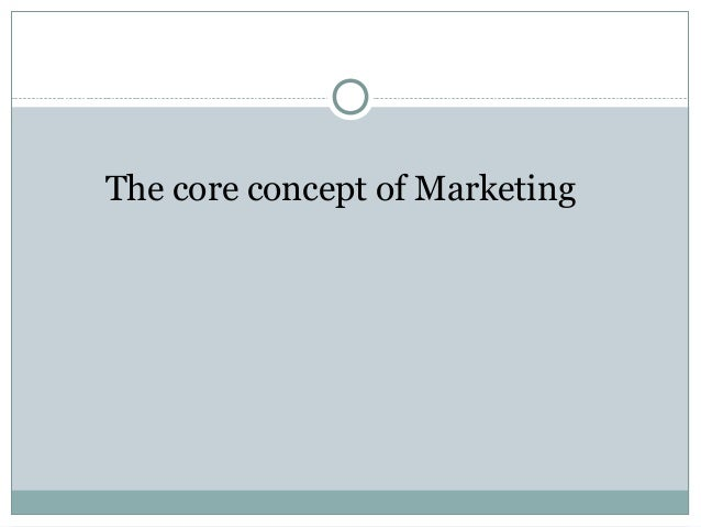 The core concept of Marketing