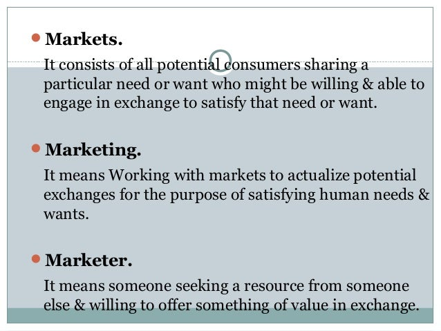 5 core marketing concepts