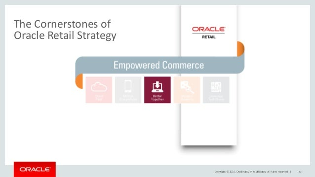 the cornerstones of oracle retail strategy
