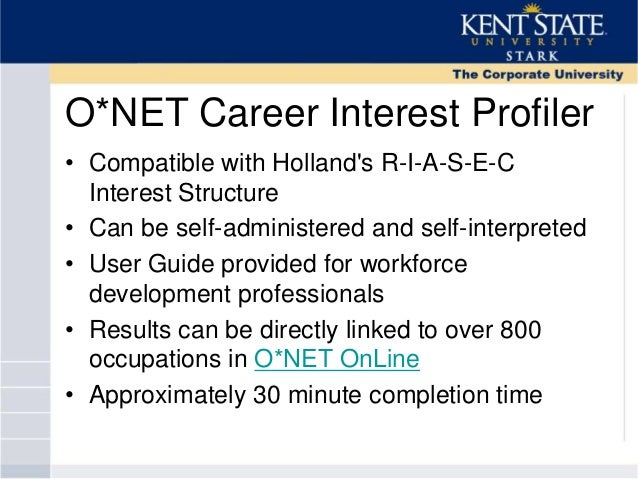 Career interests profiler