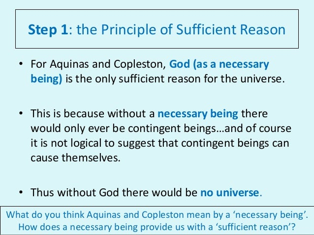 Principle of sufficient reason