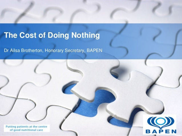 YOUR LOGO The Cost of Doing Nothing Dr Ailsa Brotherton, Honorary Secretary, BAPEN