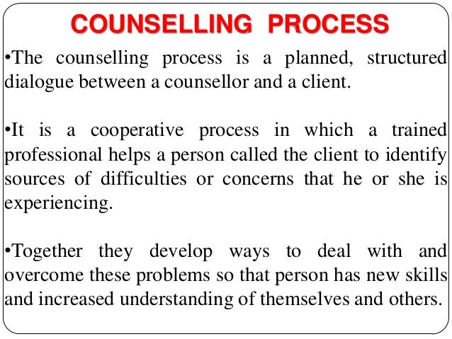 counselling process Start studying introduction to counseling learn vocabulary, terms, and more with flashcards, games, and other study tools.