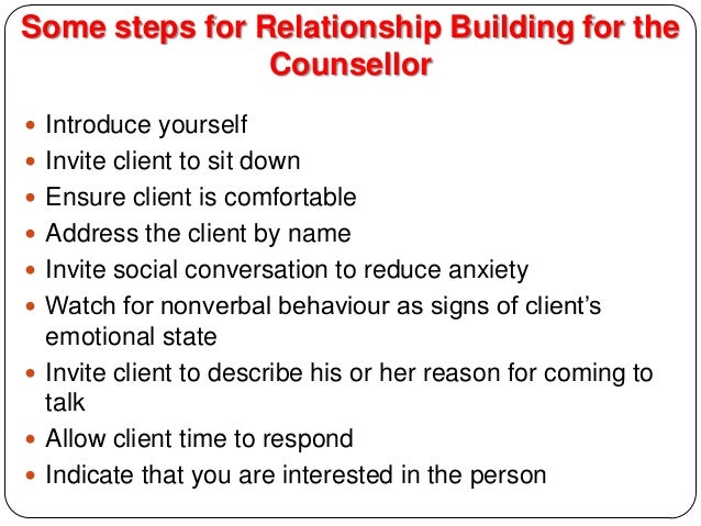 process of counseling in detail