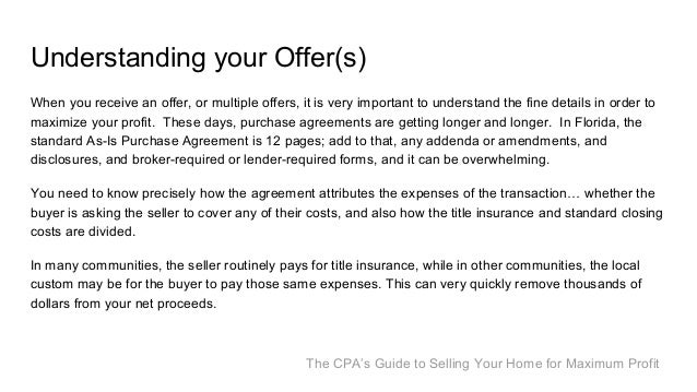 The CPAs Guide to Selling your Home for Maximum Profit – Home Purchase Agreement Template