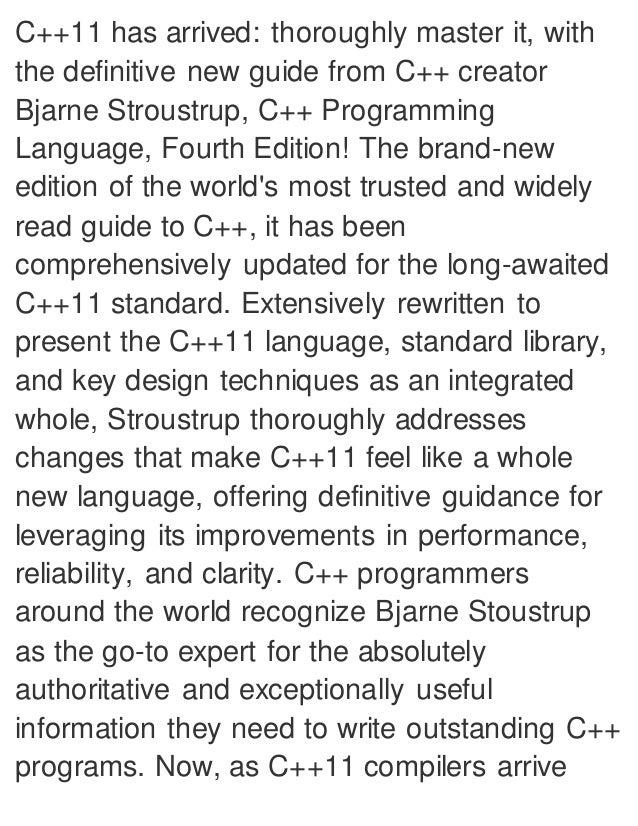 c++ programming language basics pdf