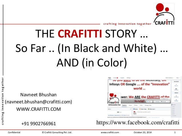 Confidential  crafting innovation together  crafting innovation together  www.crafitti.com  © Crafitti Consulting Pvt. Ltd...