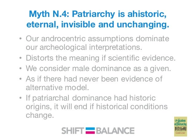 Patriarchy and its origins and sex
