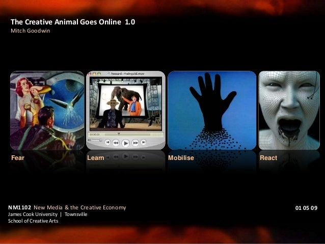 The Creative Animal Goes Online 1.0 Mitch Goodwin NM1102 New Media & the Creative Economy James Cook University | Townsvil...