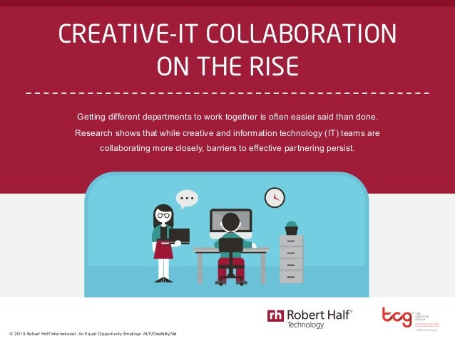 The Creative Group survey of 400 U.S. advertising and marketing executives. Robert Half Technology survey of more than 2,4...