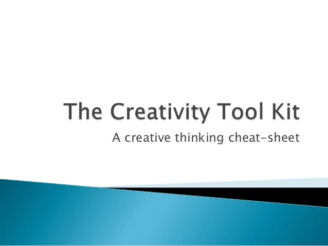 A creative thinking cheat-sheet
