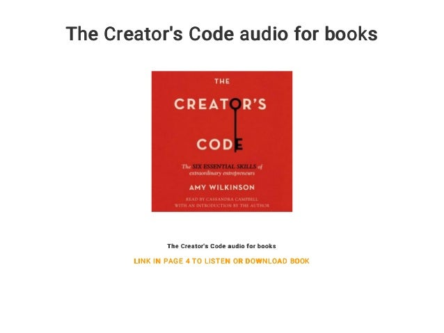The Creator's Code audio for books