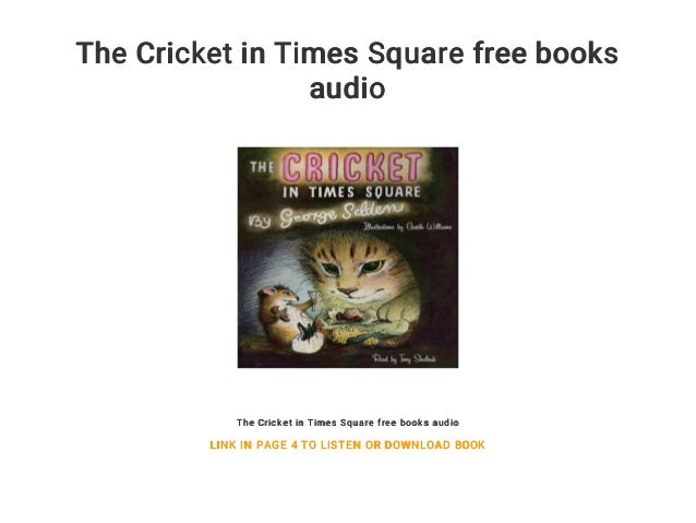 Cricket in square the book times