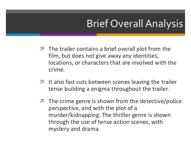 Phycoanalysis of the detective genre