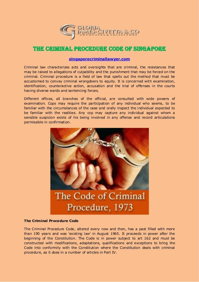 code of criminal proceding Criminal proceedings are believed to be of a public nature in this regard there is room allowed under the criminal procedure code for individual prosecution citizens who feel that the state is not willing to take up their cases and have to tender evidence in court can approach court and the court at.