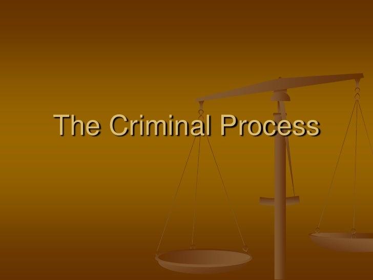 The Criminal Process<br />