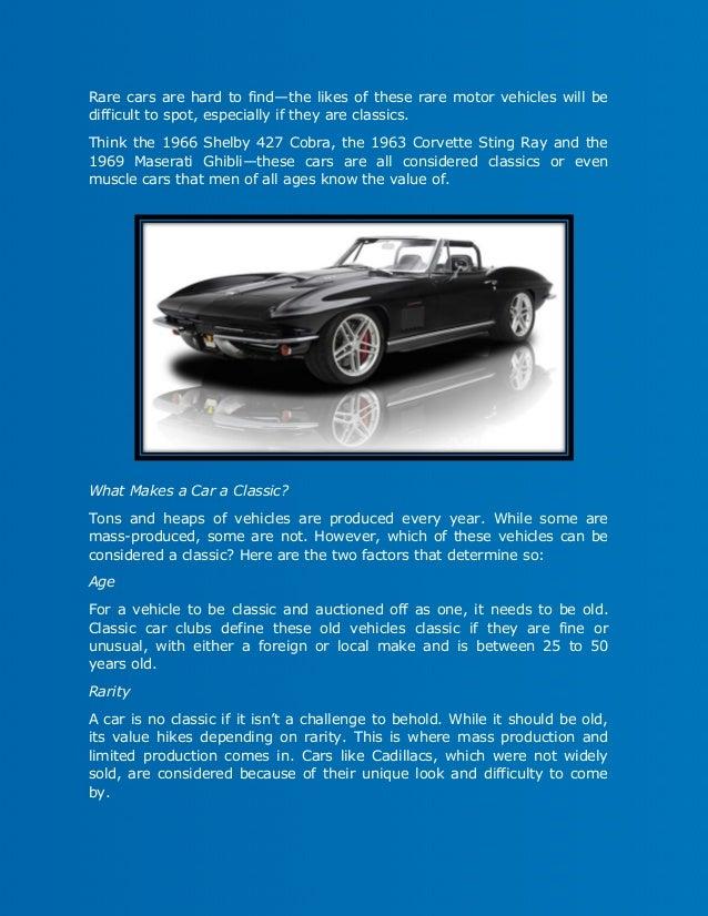The Criteria of a Classic Vehicle