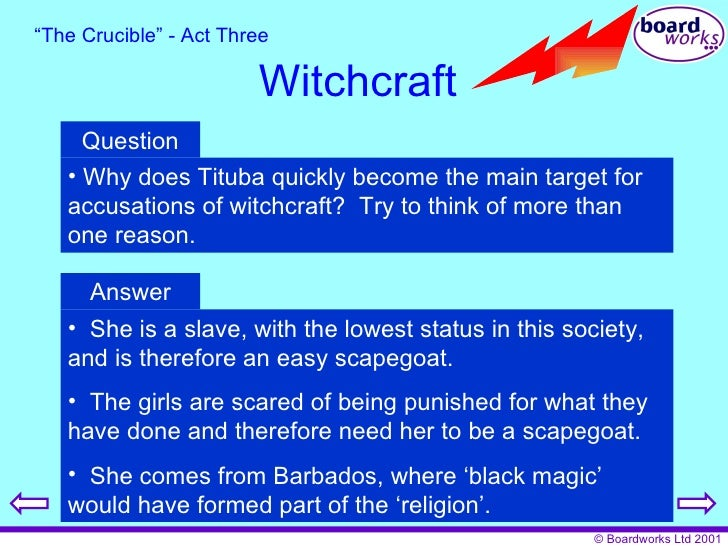 scapegoats in the crucible Free scapegoats papers, essays, and research papers  the fear of the noose  in the crucible by arthur miller -  even as it is a lie tituba will do whatever it.