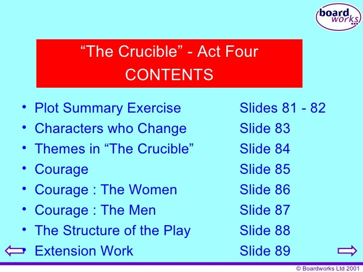the setting and plot overview of the crucible The crucible summary & study guide includes detailed chapter summaries and analysis, quotes, character descriptions, themes, and more.
