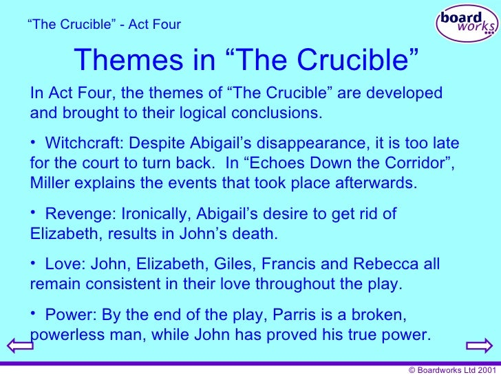 Choose characters from the the crucible