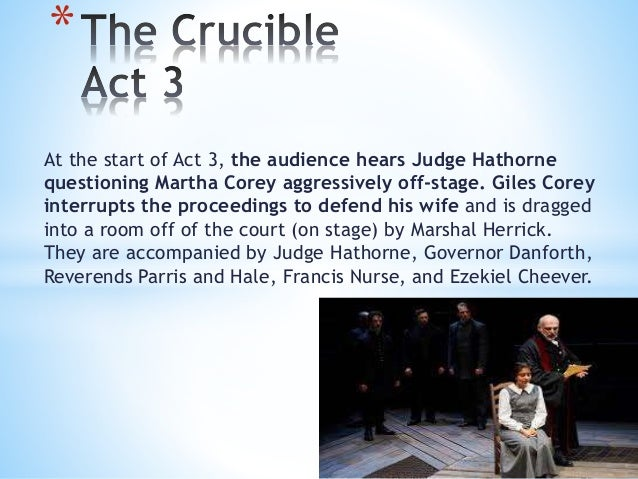 "hypocrisy in the crucible The crucible is not so much a dramatization of ""witch hunting"" as it is an illumination of human weakness, hypocrisy, and vindictiveness examine the play for all three elements, providing solid support from the text."