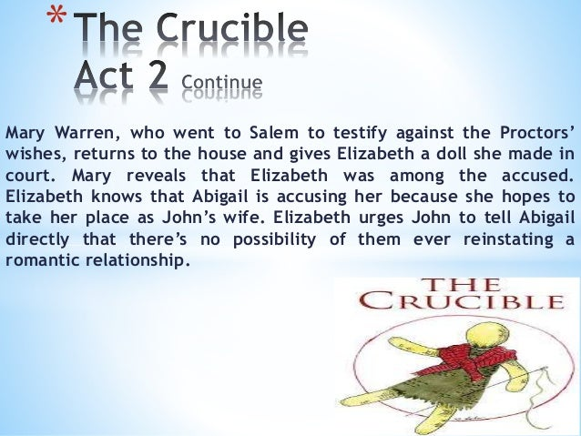 proctors relationship with abigail He believes his affair with abigail irreparably damaged him in the eyes of god,   unsurprisingly, his relationship with elizabeth remains strained throughout the.