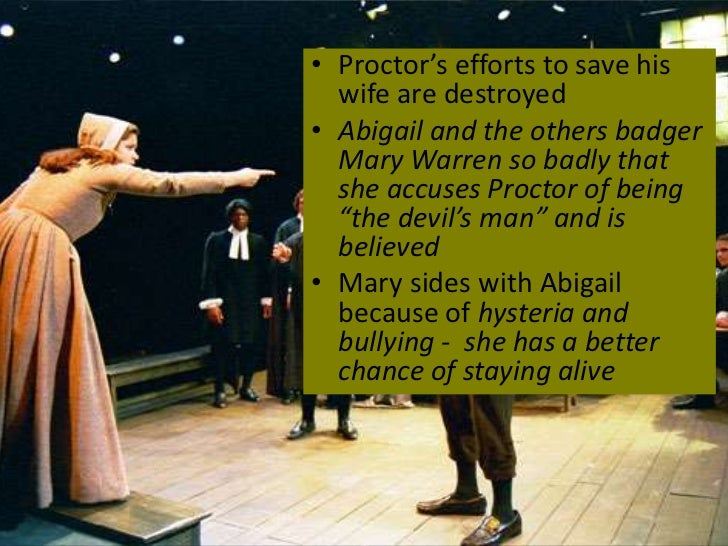 the crucible and bullying Saoirse ronan stars in broadway's overly spooky 'crucible'  bullying swagger, the 21-year-old's portrayal of the treacherous abigail williams suggests the alpha mean girl of heathers.