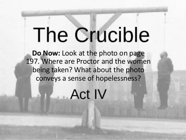look again at the end of the crucible essay The crucible act 3 summary & analysis from litcharts abigail screams again that mary 's spirit is florman, ben the crucible act 3 litcharts llc, july 22.