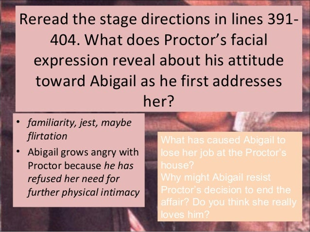 crucible foil abigail ans elizabeth Abigail williams born  abigail accuses john's wife elizabeth of witchcraft in the hopes that elizabeth will be executed  the crucible version of abigail.