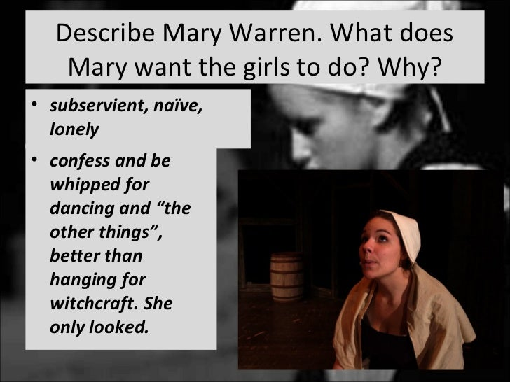 the character of mary warren