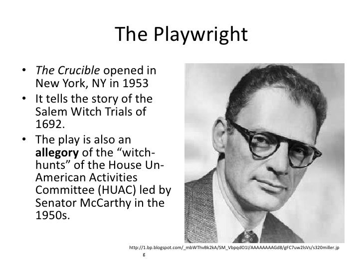 An analysis of a play the crucible in 1953 by the american playwright arthur miller