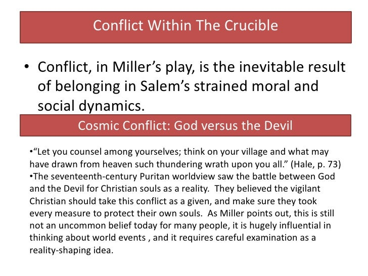 Conflict in the crucible essay conclusion