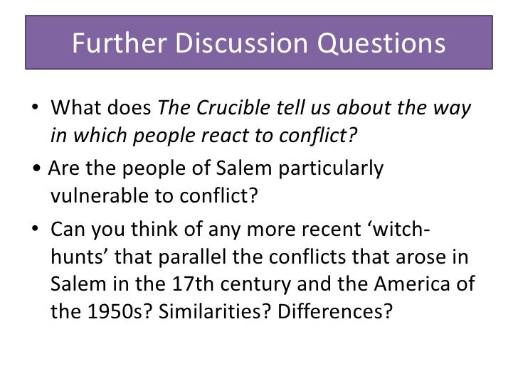 conflict the crucible essay Crucible' about the arthur miller was born in 1915 to isadore and augusta, a jewish family graduated from university of michigan in 1938 where he began to.