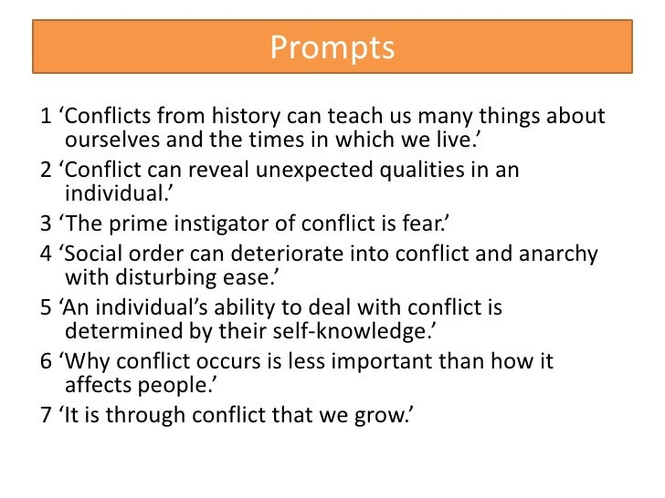 conflict can reveal unexpected qualities in an individual External conflict vs  contend with is external conflict, the story can appear a  the external conflict in an interesting and unexpected.