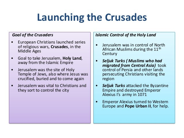 what was the purpose of the crusades