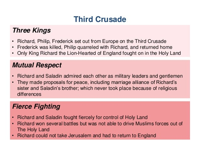The St And Rd Crusades - Major battles of the crusades