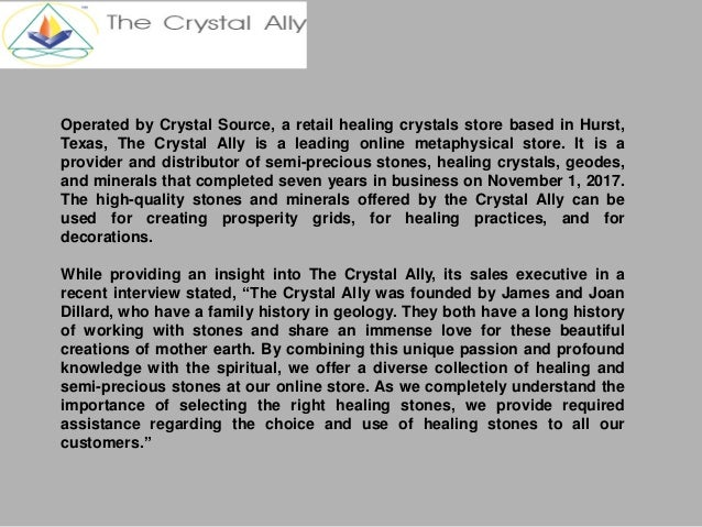 The crystal ally offers quality healing crystals at