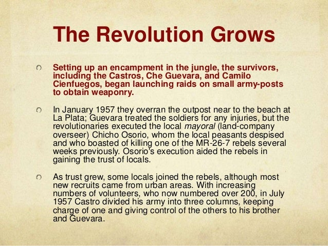 A look at the effects of the cuban revolution